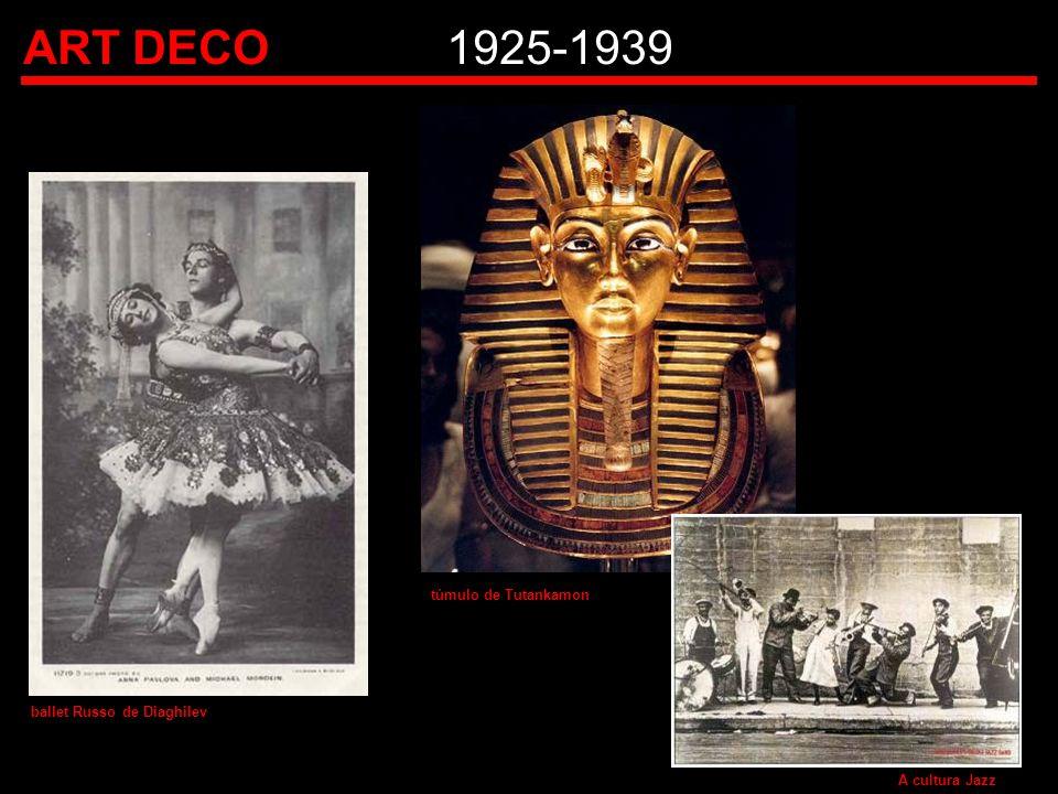 ART DECO 1925-1939 túmulo de Tutankamon ballet Russo de Diaghilev
