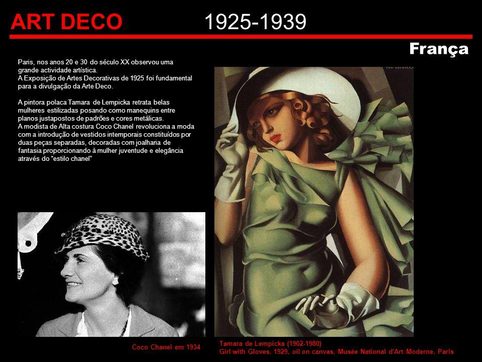 ART DECO 1925-1939 França. Paris, nos anos 20 e 30 do século XX observou uma. grande actividade artística.