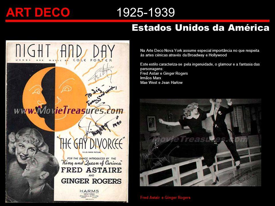 ART DECO 1925-1939 Estados Unidos da América