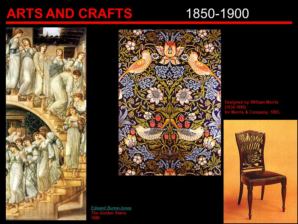 ARTS AND CRAFTS 1850-1900 Designed by William Morris (1834-1896)