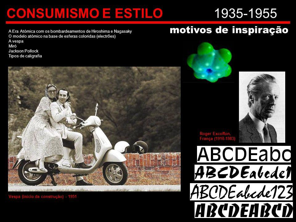 CONSUMISMO E ESTILO 1935-1955 motivos de inspiração