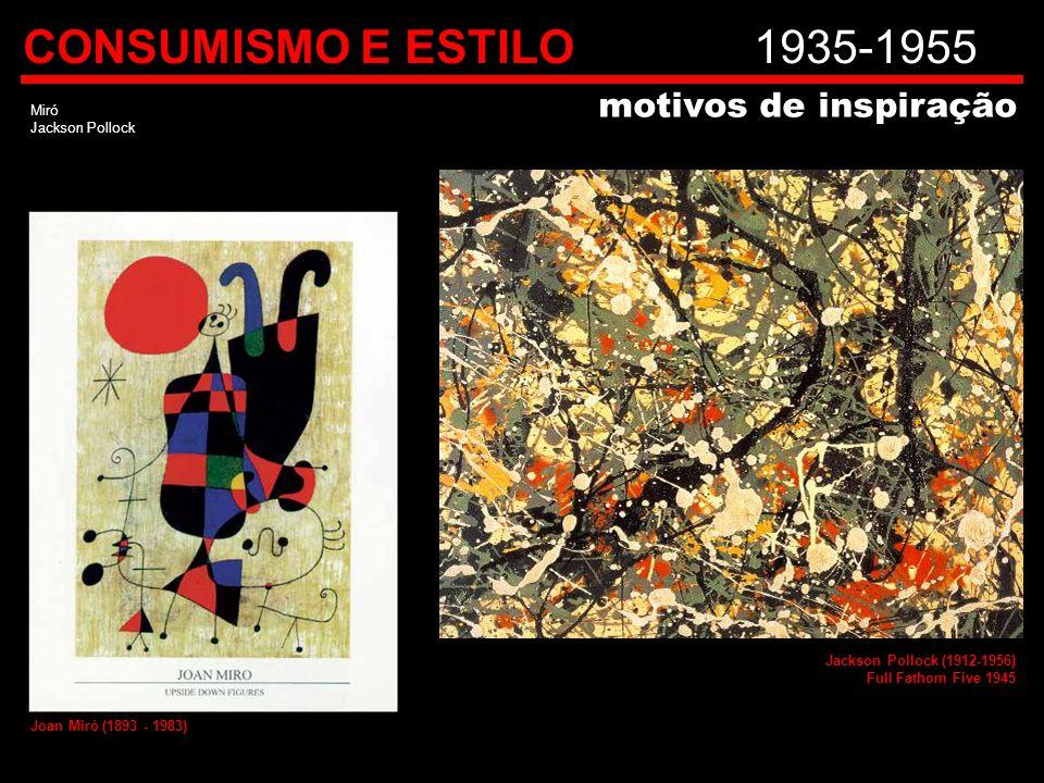CONSUMISMO E ESTILO 1935-1955 motivos de inspiração Miró
