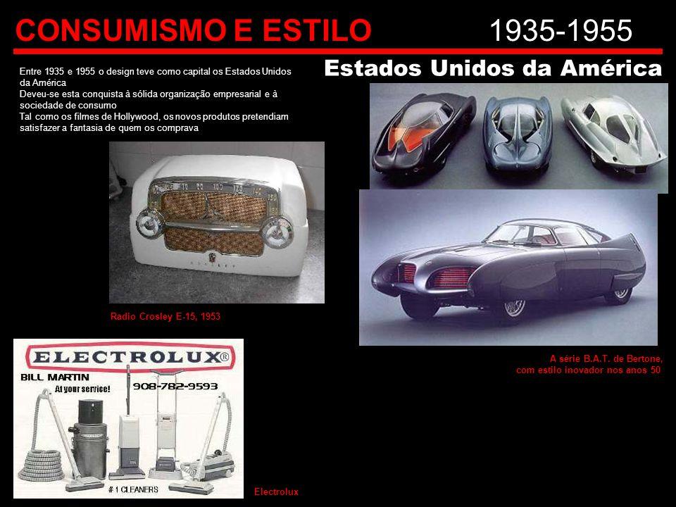 CONSUMISMO E ESTILO 1935-1955 Estados Unidos da América