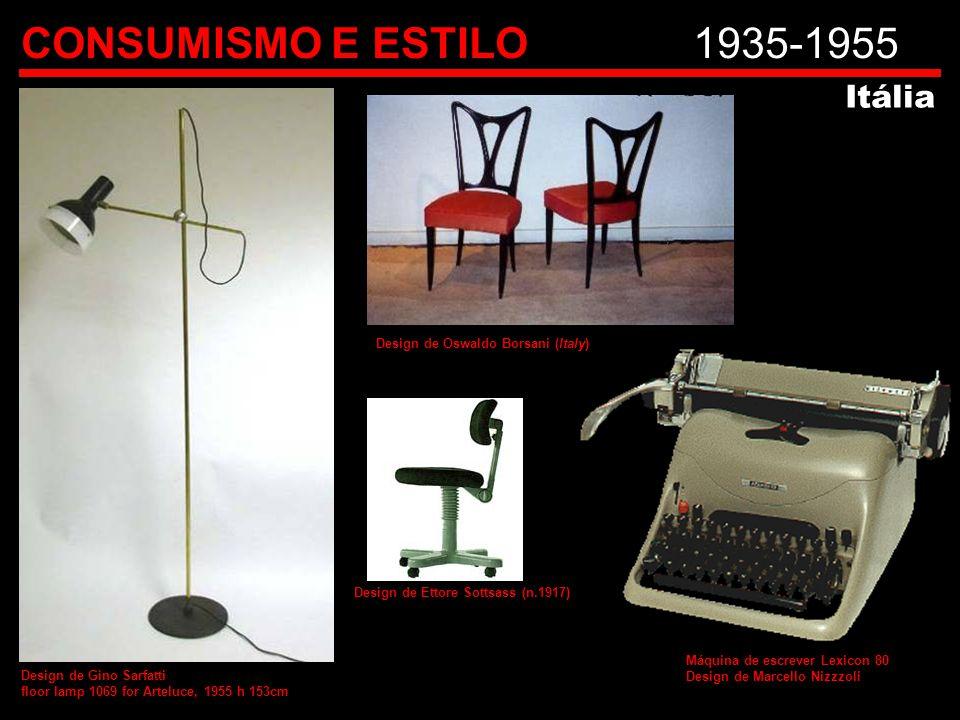 CONSUMISMO E ESTILO 1935-1955 Itália Design de Oswaldo Borsani (Italy)