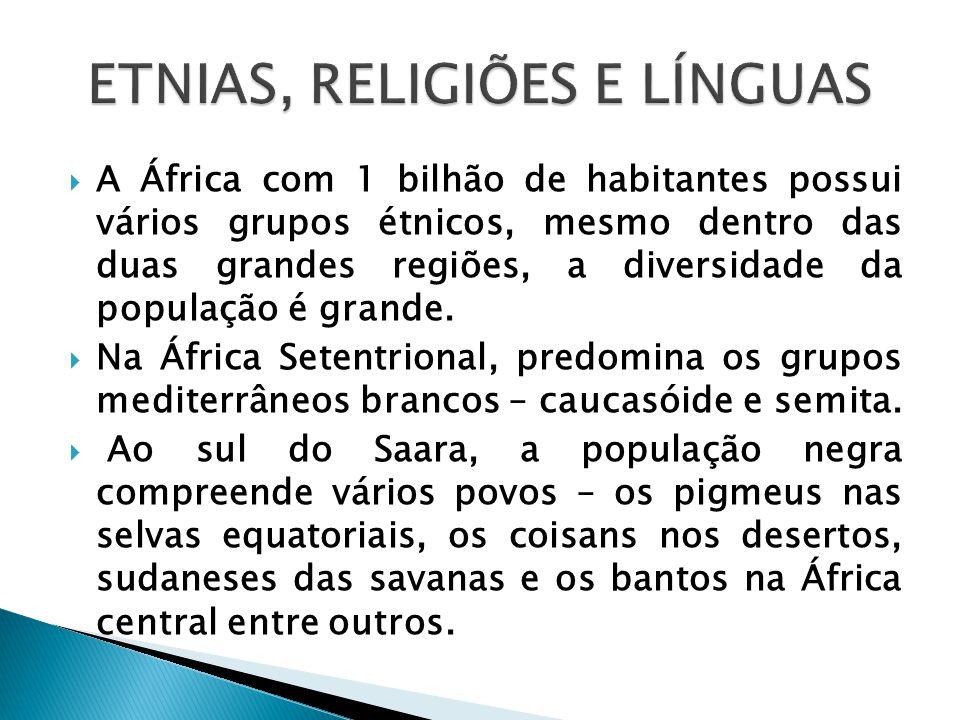 ETNIAS, RELIGIÕES E LÍNGUAS