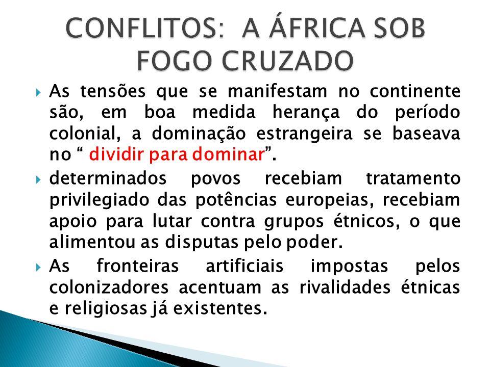 Conflitos: a África sob fogo cruzado