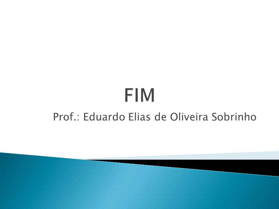 Prof.: Eduardo Elias de Oliveira Sobrinho