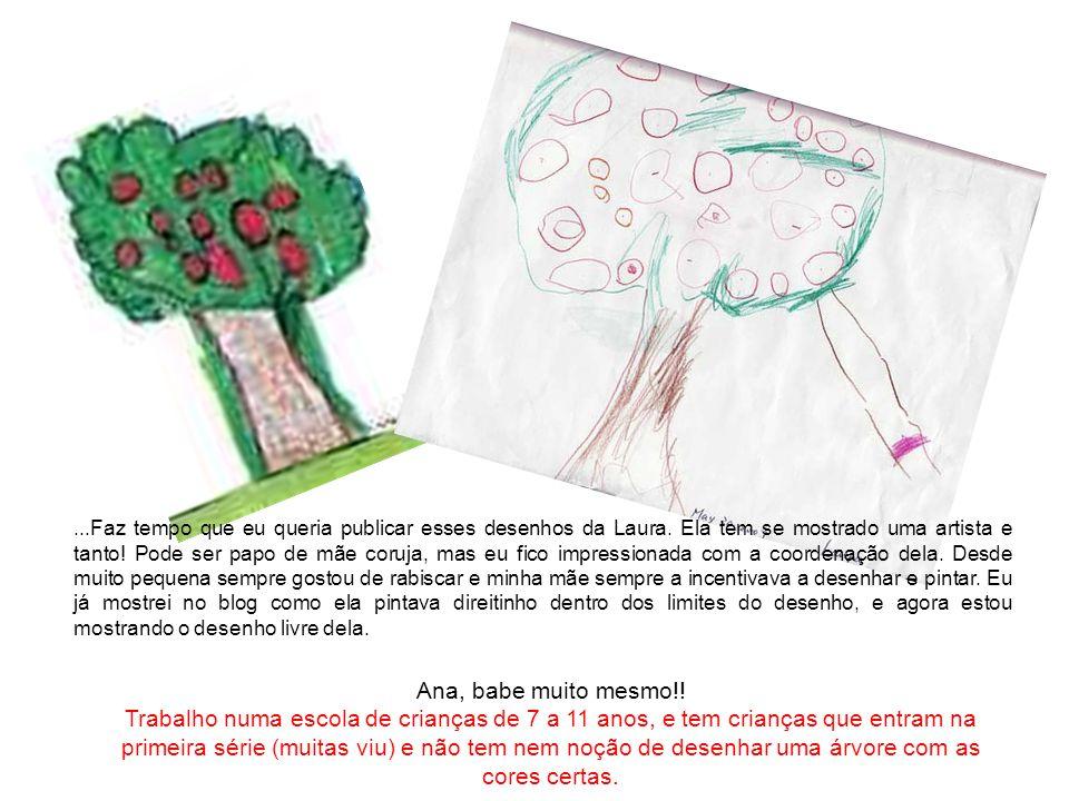 Faz tempo que eu queria publicar esses desenhos da Laura