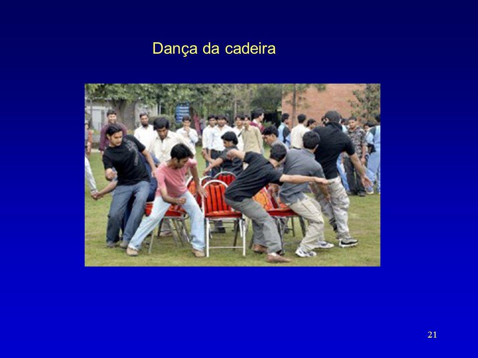Dança da cadeira Comeca a danca da cadeira para achar um lugar para viver. Sao estes adultos jovens que vao tentar atrevessar a BR101.