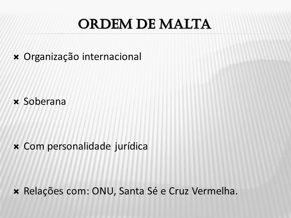 Ordem de malta Organização internacional Soberana