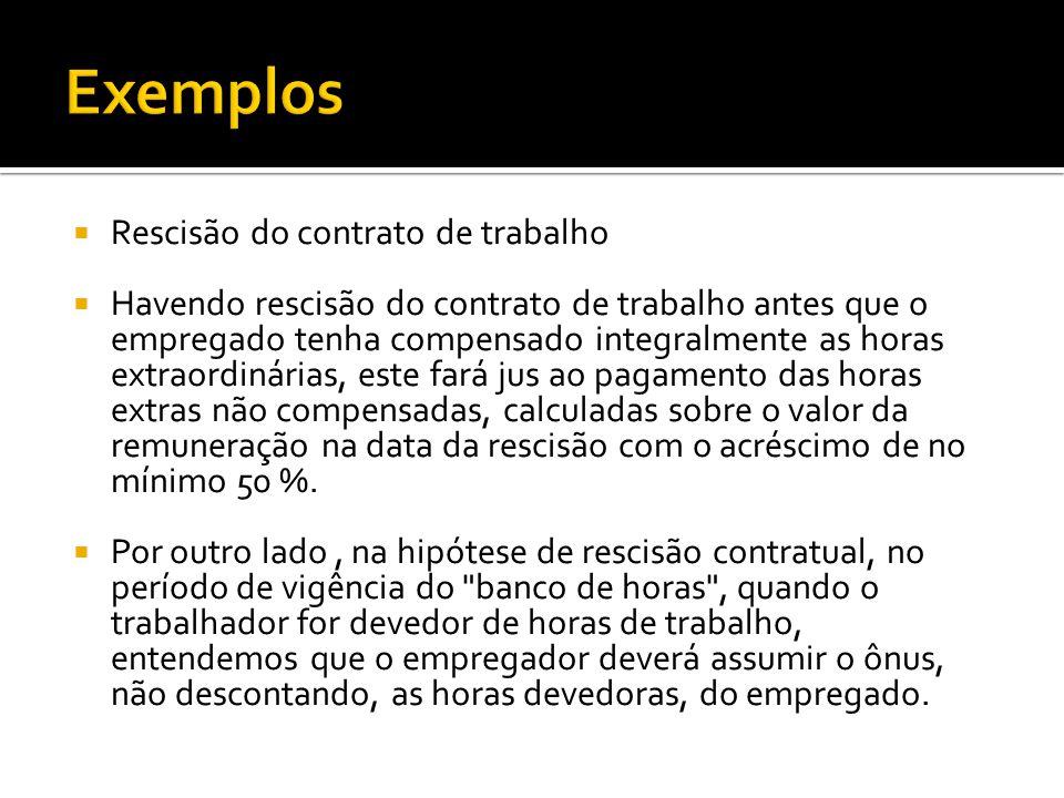 Exemplos Rescisão do contrato de trabalho