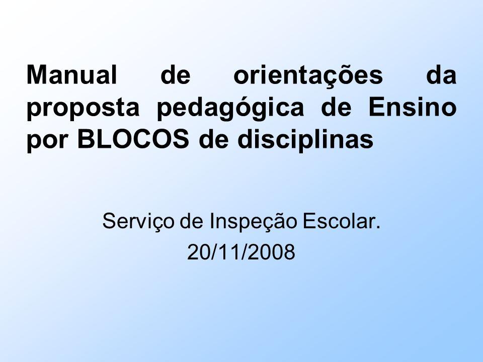 Serviço de Inspeção Escolar. 20/11/2008