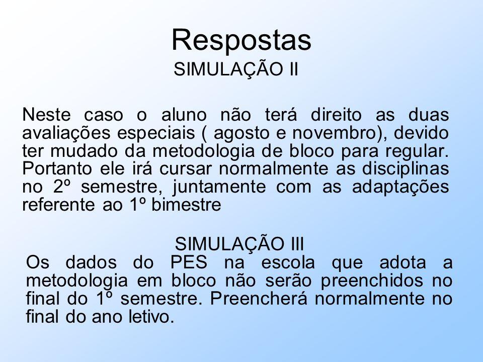 Respostas SIMULAÇÃO II