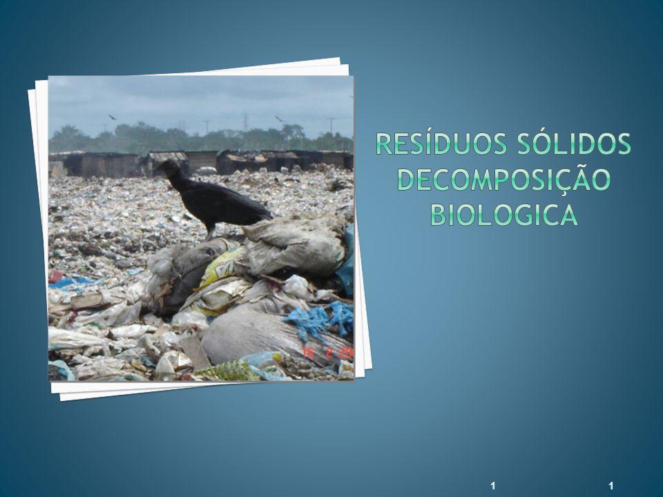 RESÍDUOS SÓLIDOS DECOMPOSIÇÃO BIOLOGICA