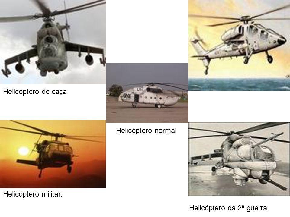 Helicóptero de caça Helicóptero normal Helicóptero militar. Helicóptero da 2ª guerra.