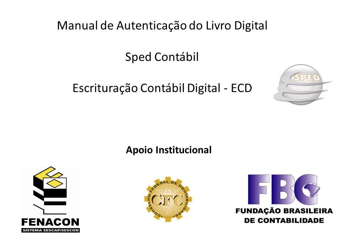 Manual de Autenticação do Livro Digital Sped Contábil