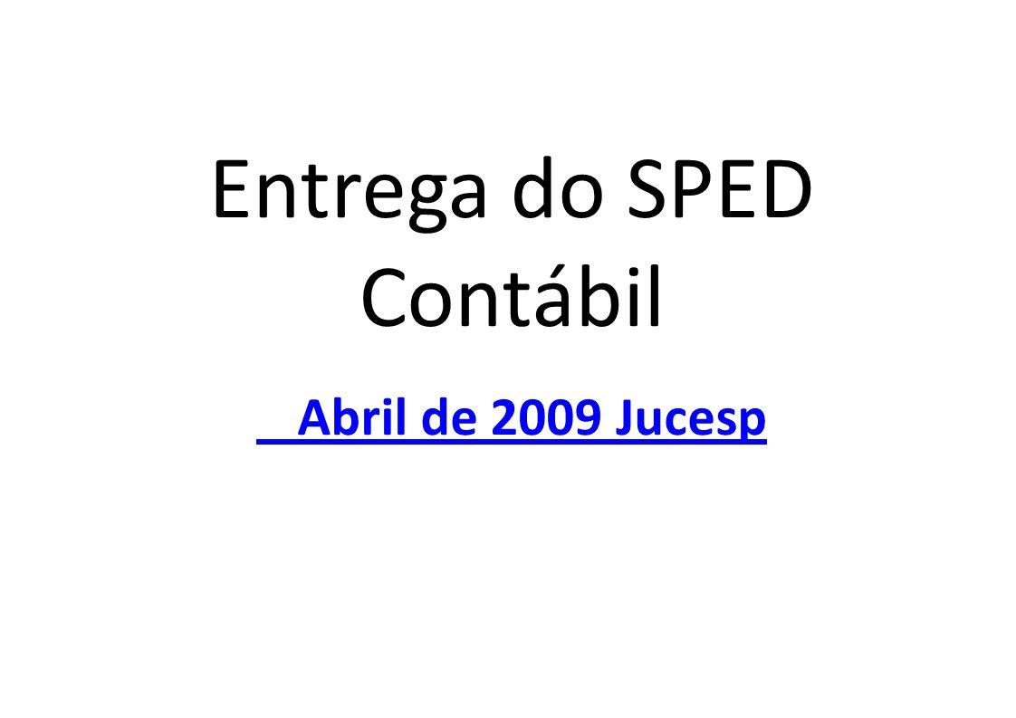 Entrega do SPED Contábil