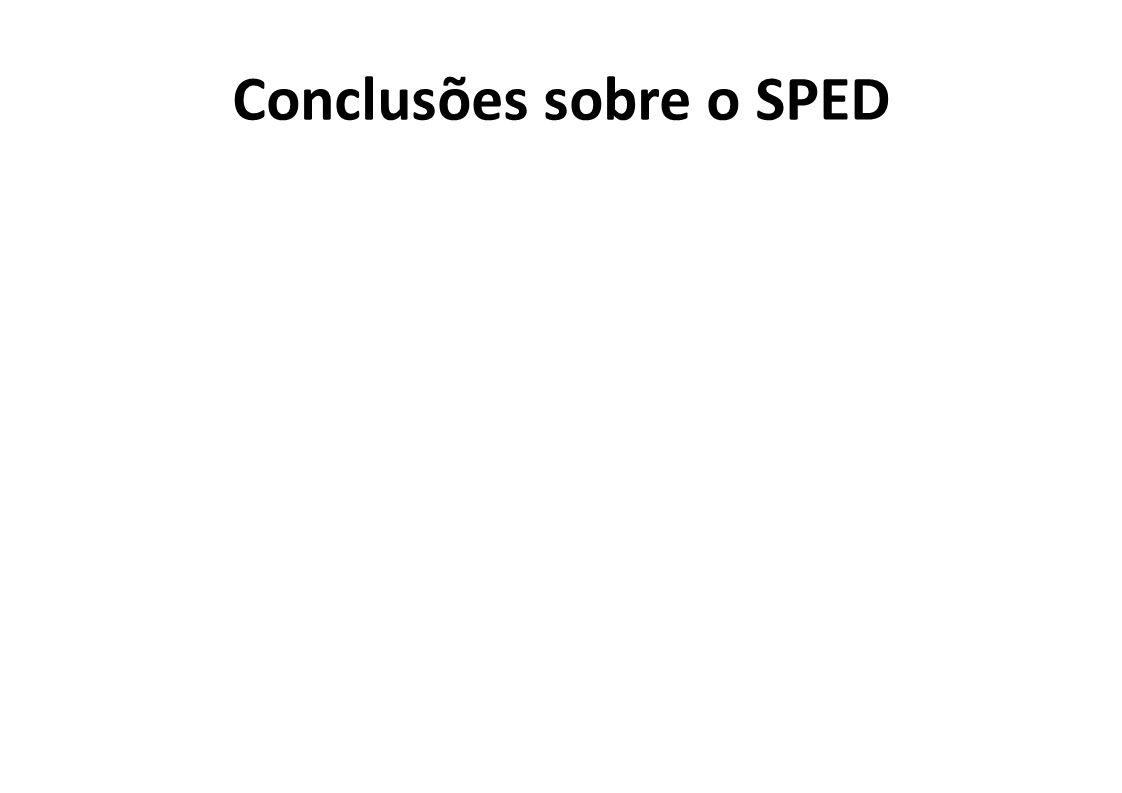 Conclusões sobre o SPED