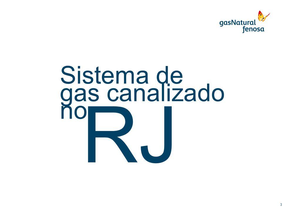 Sistema de gas canalizado no RJ