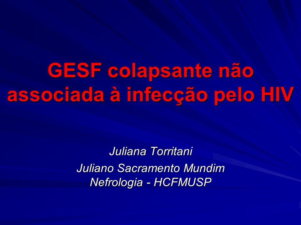 GESF colapsante não associada à infecção pelo HIV