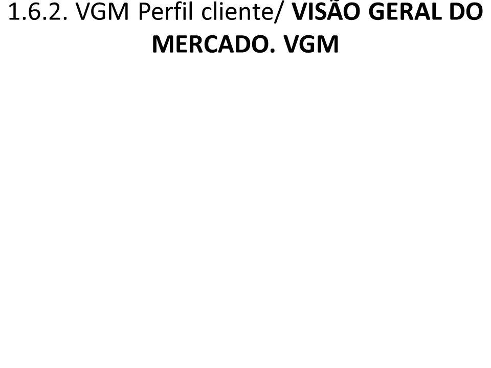 1.6.2. VGM Perfil cliente/ VISÃO GERAL DO MERCADO. VGM