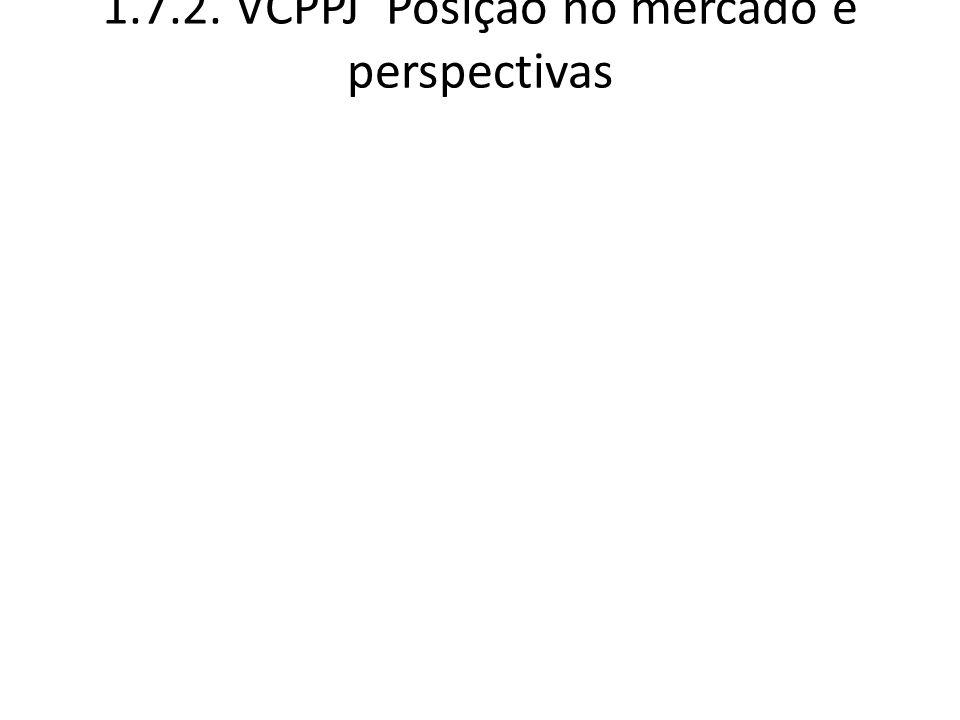 1.7.2. VCPPJ Posição no mercado e perspectivas
