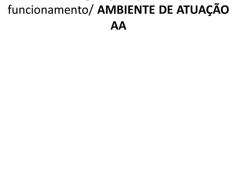 2.1.AA Legislação aplicável para funcionamento/ AMBIENTE DE ATUAÇÃO AA