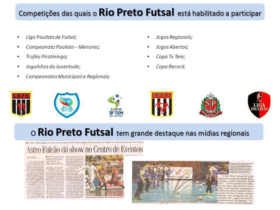 Competições das quais o Rio Preto Futsal está habilitado a participar