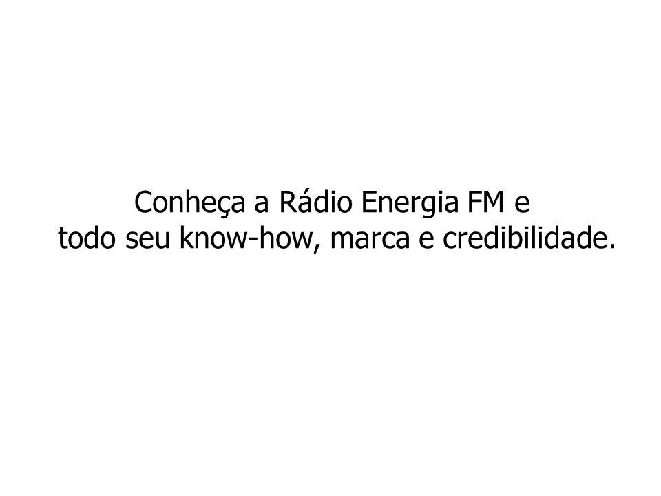 Conheça a Rádio Energia FM e todo seu know-how, marca e credibilidade.