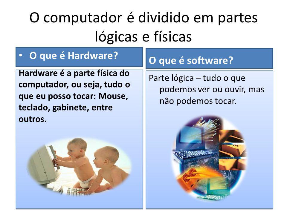 O computador é dividido em partes lógicas e físicas