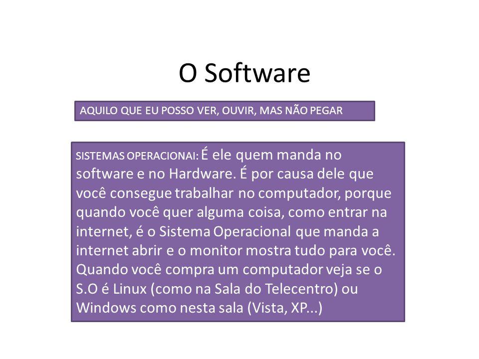 O Software AQUILO QUE EU POSSO VER, OUVIR, MAS NÃO PEGAR.