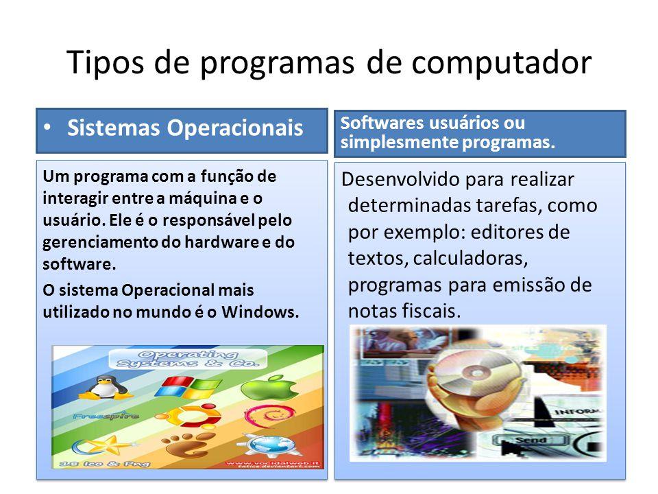 Tipos de programas de computador