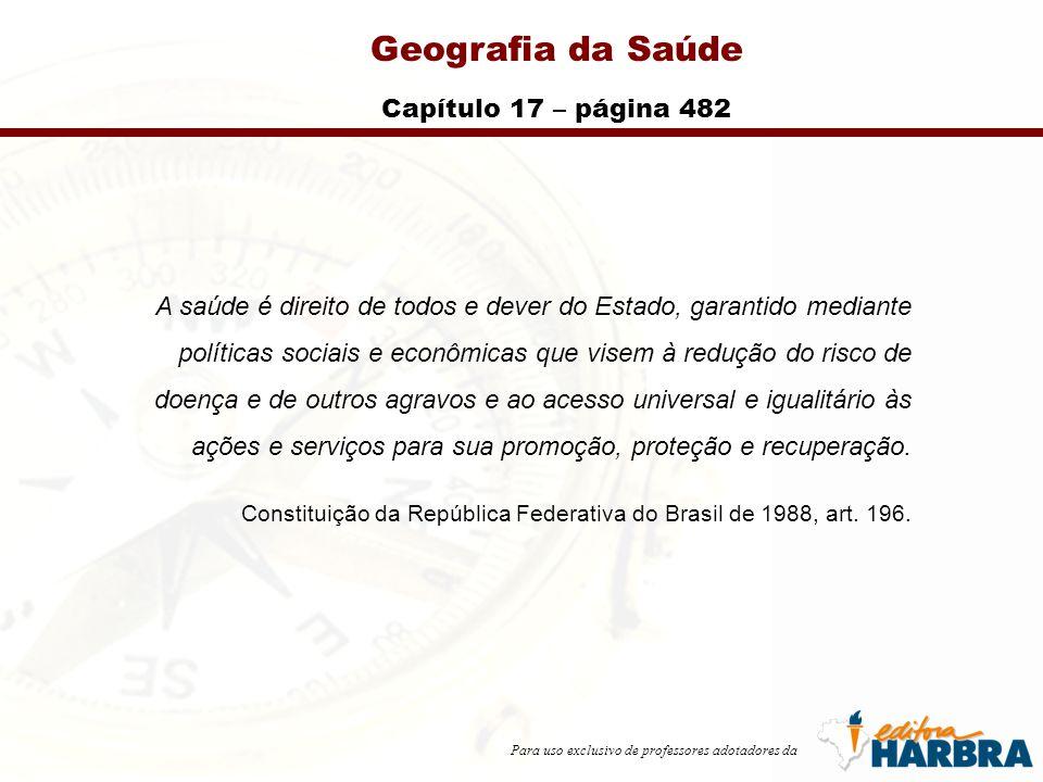 Geografia da Saúde Capítulo 17 – página 482