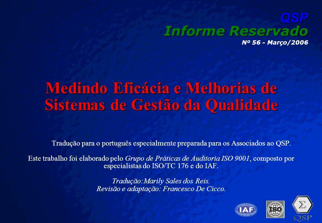 Medindo Eficácia e Melhorias de Sistemas de Gestão da Qualidade
