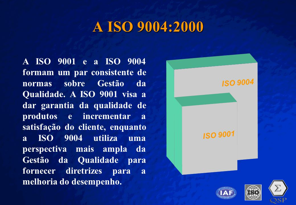 A ISO 9004:2000 ISO 9001. ISO 9004.