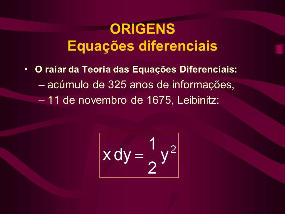 ORIGENS Equações diferenciais