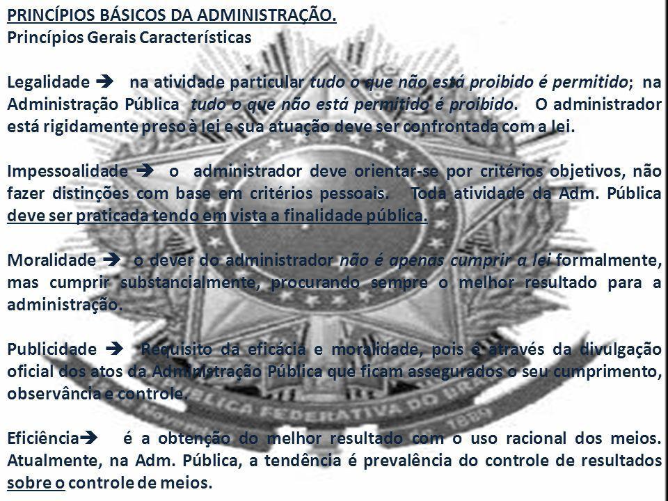 PRINCÍPIOS BÁSICOS DA ADMINISTRAÇÃO.