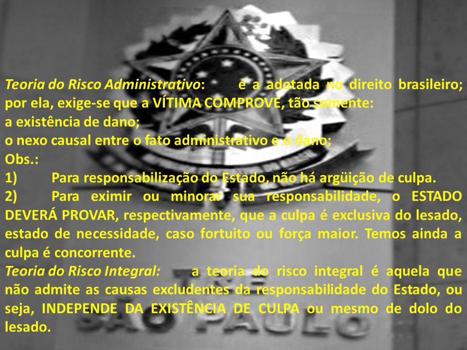 Teoria do Risco Administrativo:
