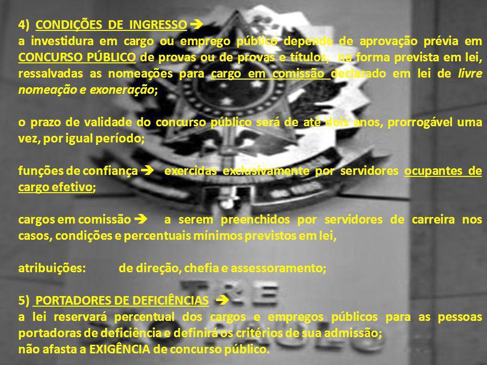 4) CONDIÇÕES DE INGRESSO 