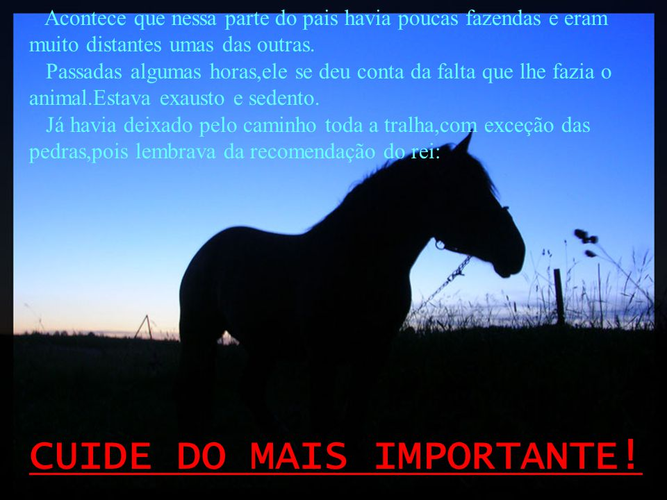 CUIDE DO MAIS IMPORTANTE!