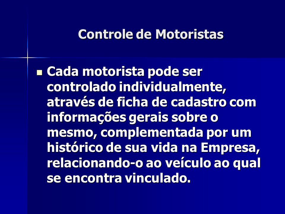 Controle de Motoristas