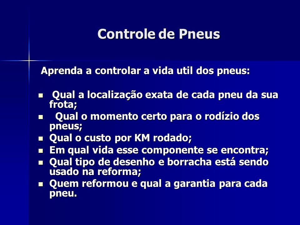 Controle de Pneus Aprenda a controlar a vida util dos pneus: