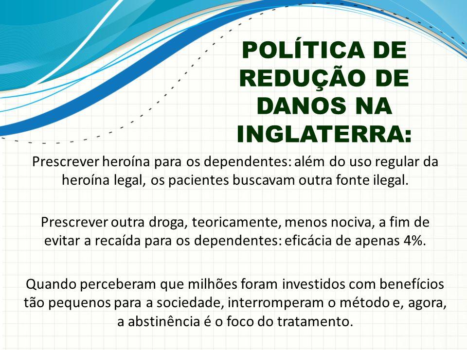 POLÍTICA DE REDUÇÃO DE DANOS NA INGLATERRA: