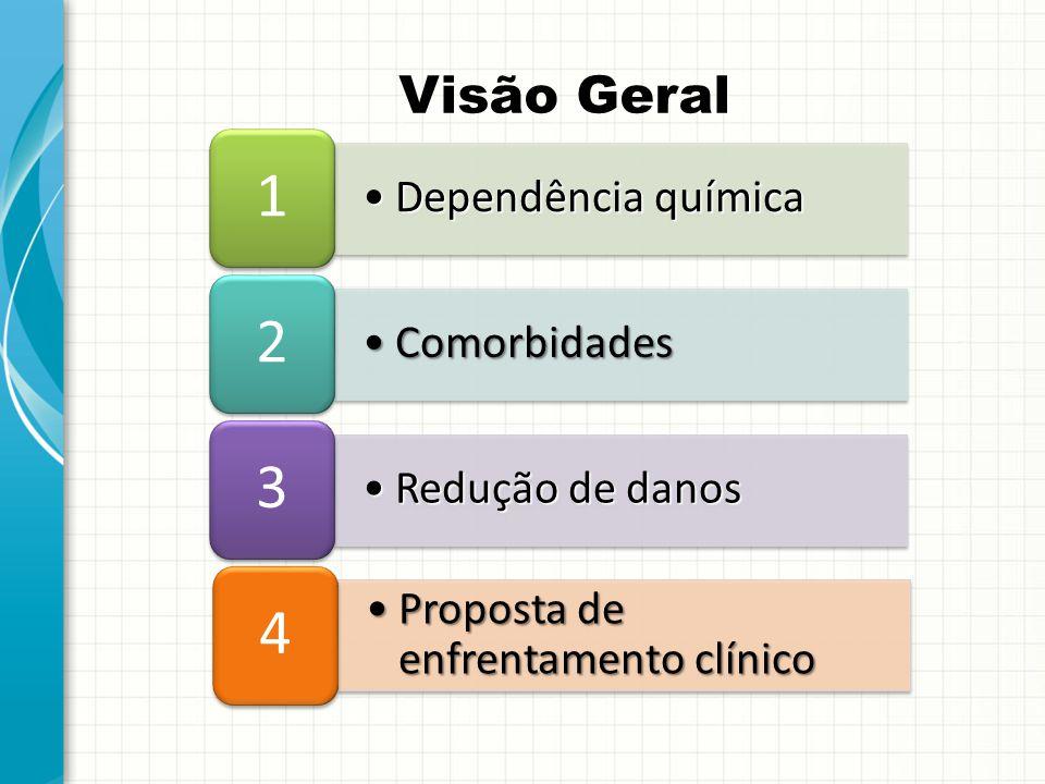 1 2 3 4 Visão Geral Dependência química Comorbidades Redução de danos