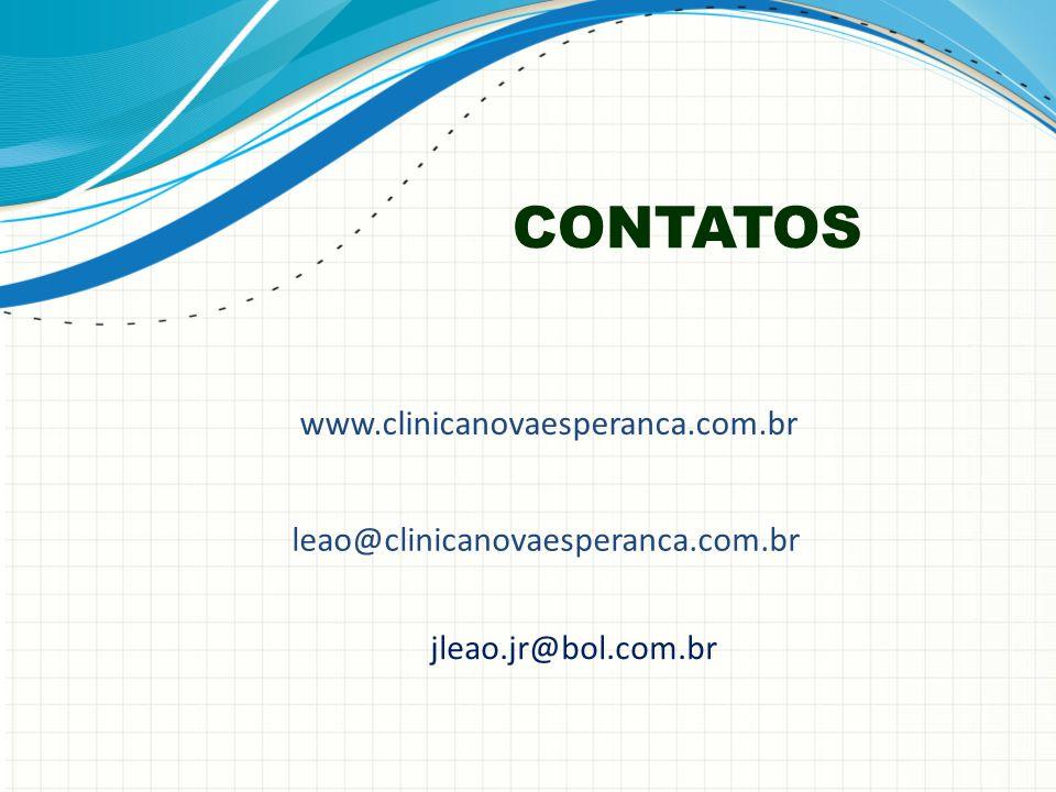 CONTATOS www.clinicanovaesperanca.com.br