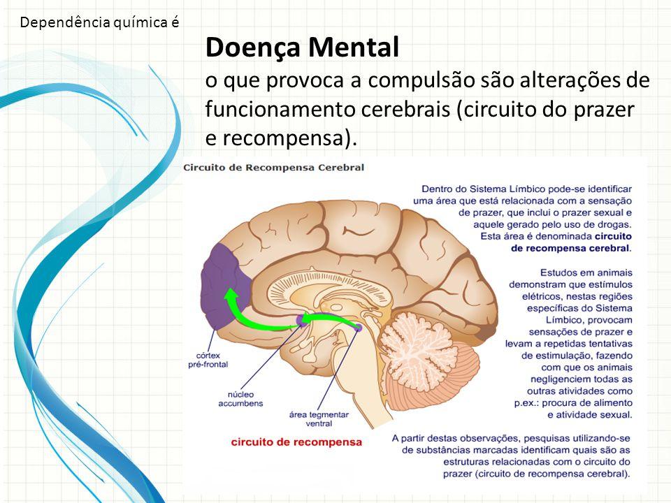 Dependência química é Doença Mental.