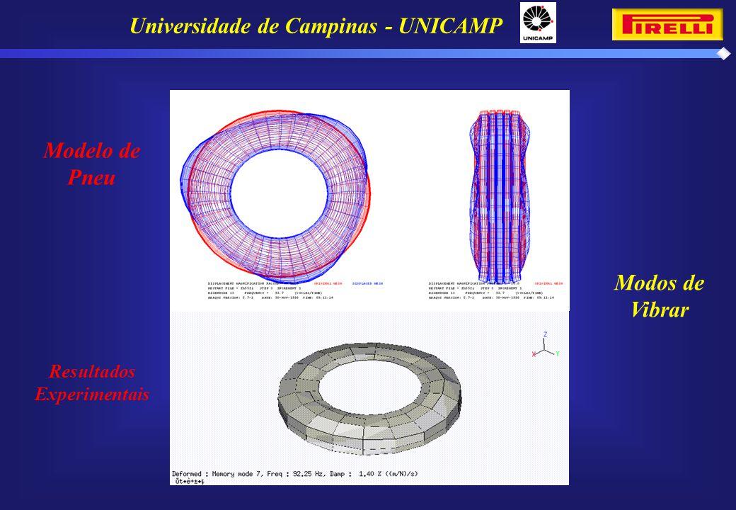 Universidade de Campinas - UNICAMP Resultados Experimentais