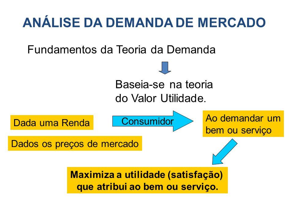 Maximiza a utilidade (satisfação) que atribui ao bem ou serviço.
