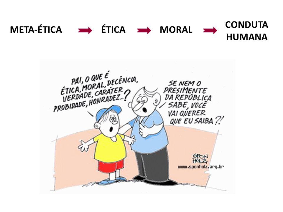 META-ÉTICA ÉTICA MORAL CONDUTA HUMANA