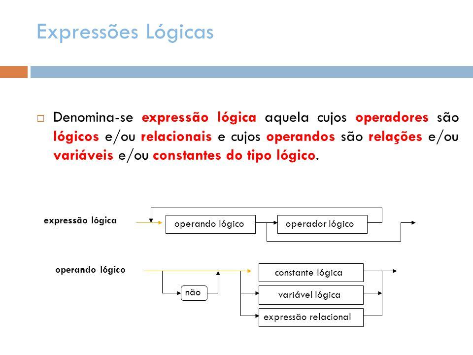 Expressões Lógicas
